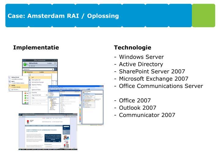 Case: Amsterdam RAI /