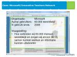 case microsoft innovative teachers network