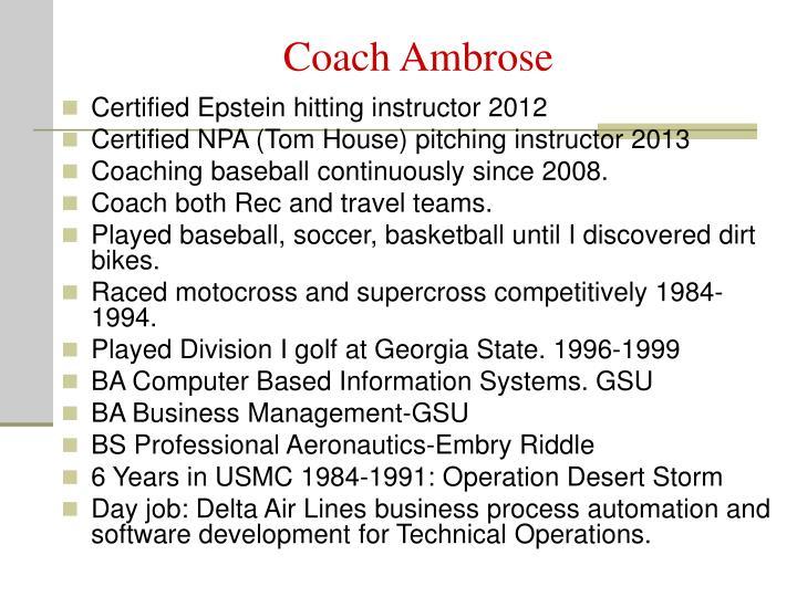 Coach Ambrose
