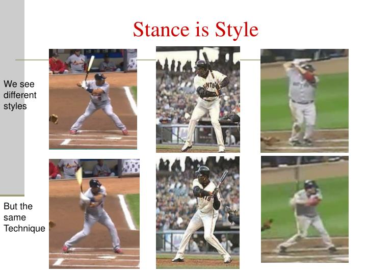Stance is Style