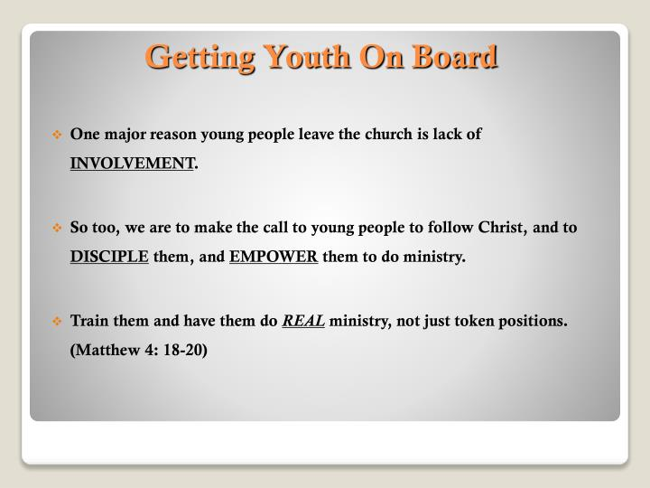 One major reason young people leave the church is lack of
