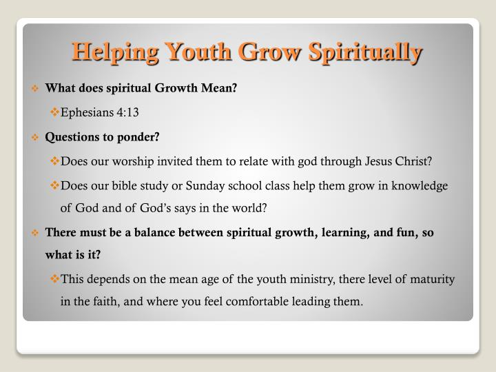 What does spiritual Growth Mean?