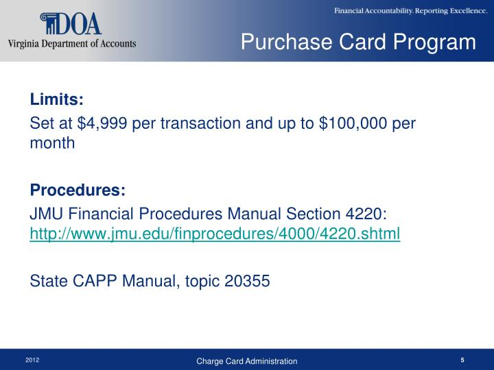 Purchase Card Program