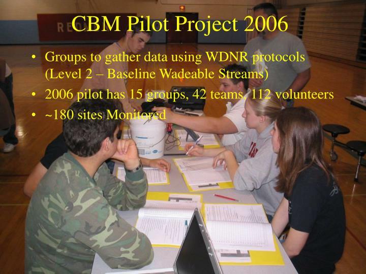 CBM Pilot Project 2006