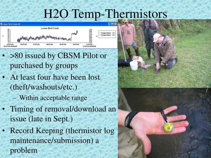 H2O Temp-Thermistors