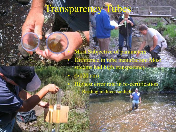 Transparency Tubes
