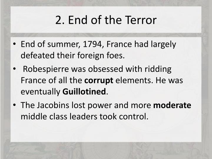 2. End of the Terror