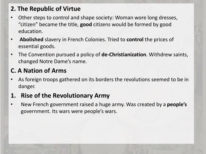 2. The Republic of Virtue