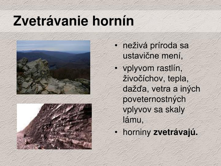 Zvetrávanie hornín