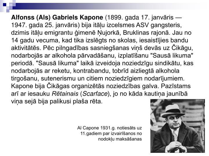 Alfonss (Als) Gabriels Kapone
