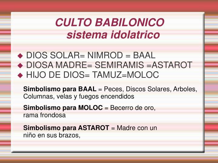 CULTO BABILONICO