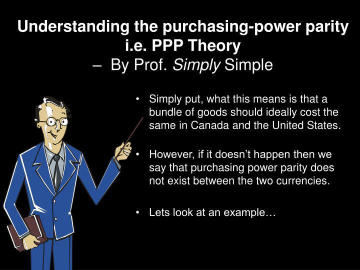 Understanding the purchasing-power parity
