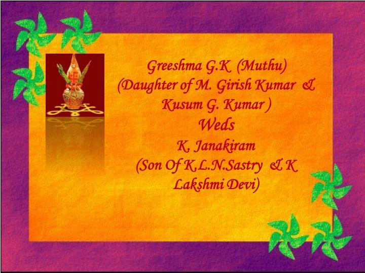 Greeshma G.K  (Muthu)