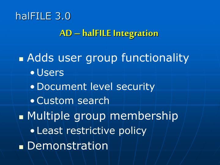 halFILE 3.0