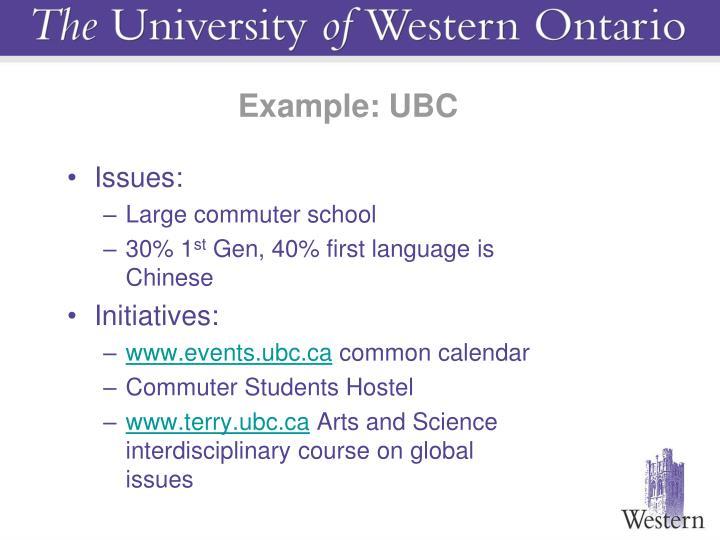 Example: UBC