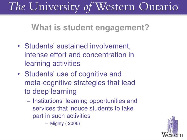 What is student engagement