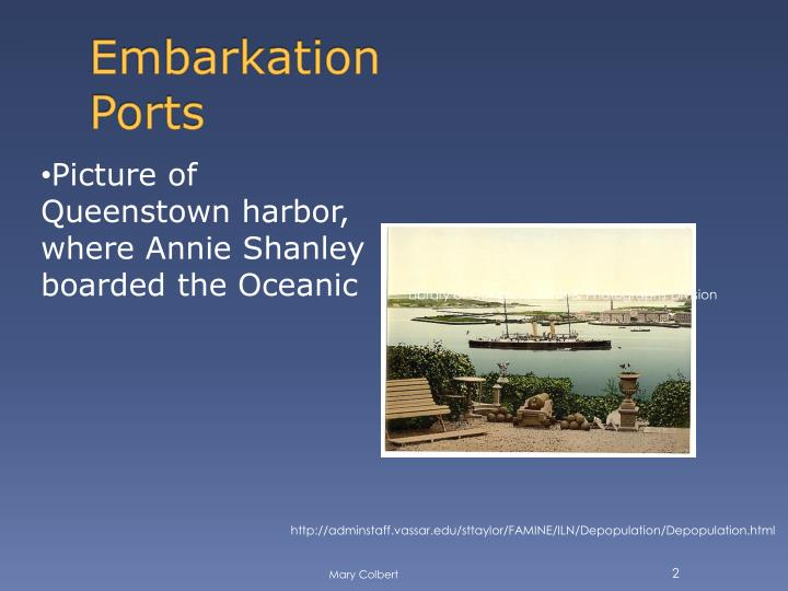 Embarkation ports