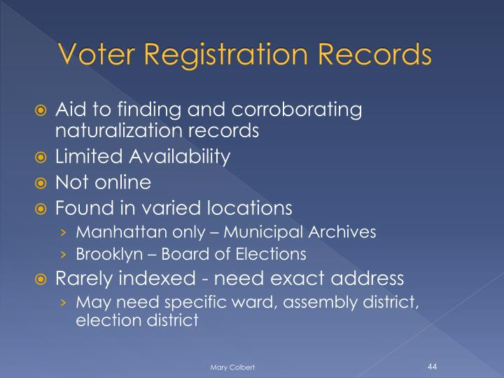Voter Registration Records