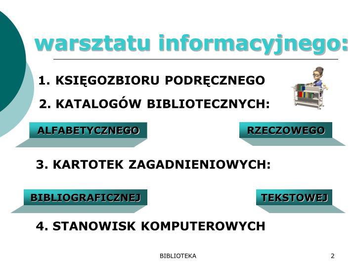 warsztatu informacyjnego: