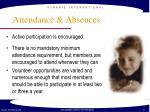 attendance absences