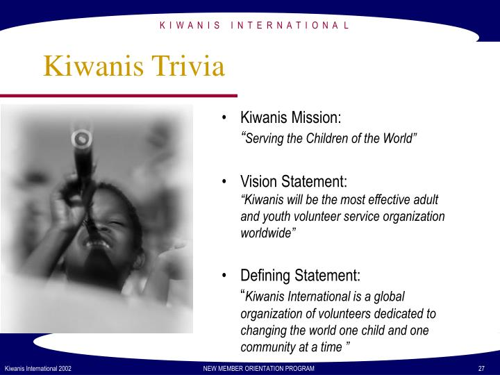 Kiwanis Trivia
