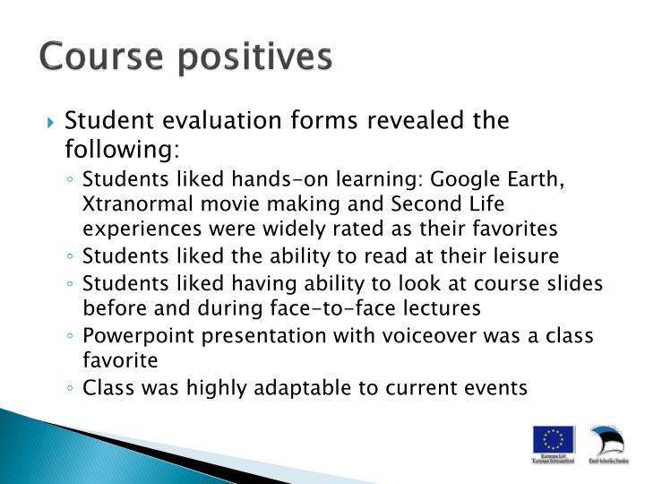 Course positives