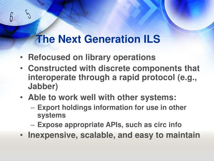 The Next Generation ILS