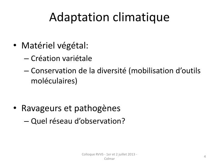 Adaptation climatique