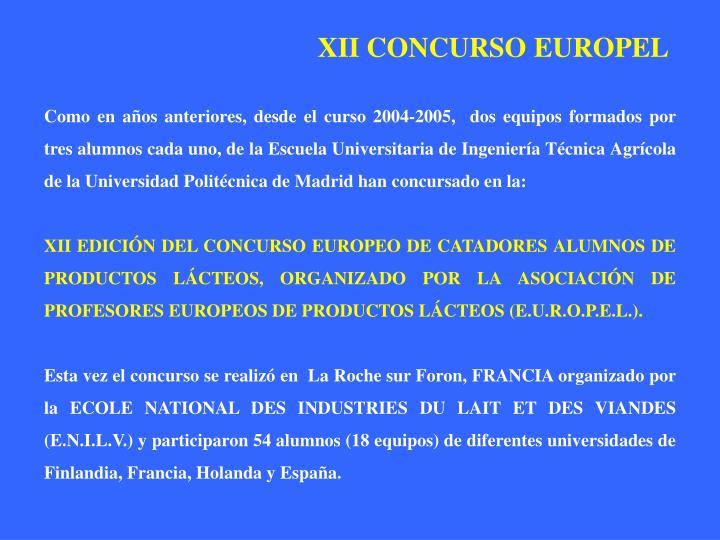 XII CONCURSO EUROPEL