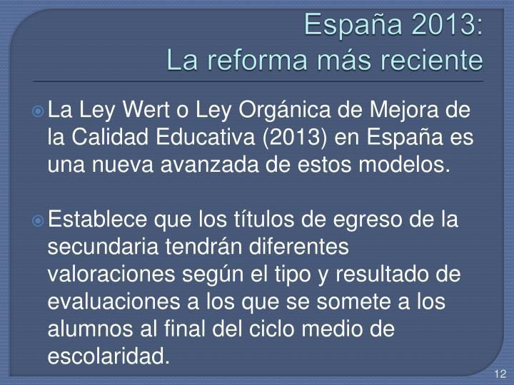 España 2013: