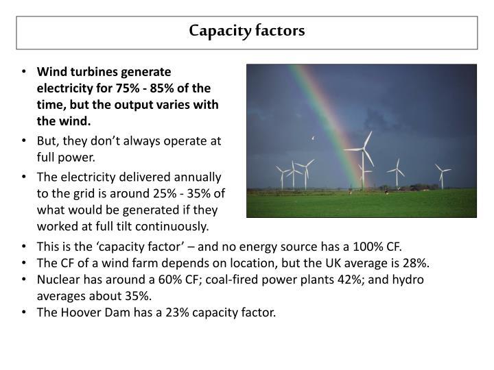 Capacity factors