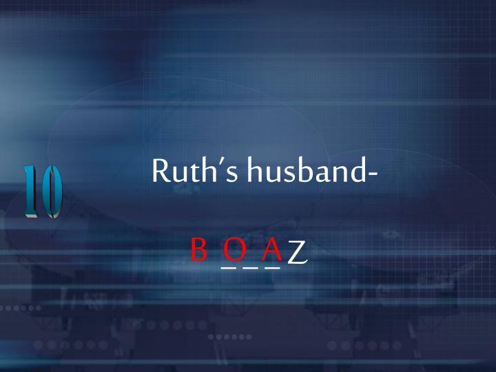 Ruth's husband-
