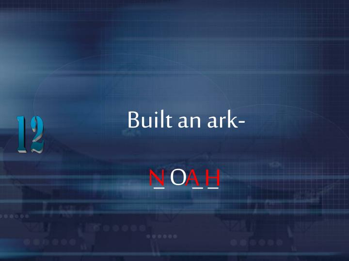 Built an ark-