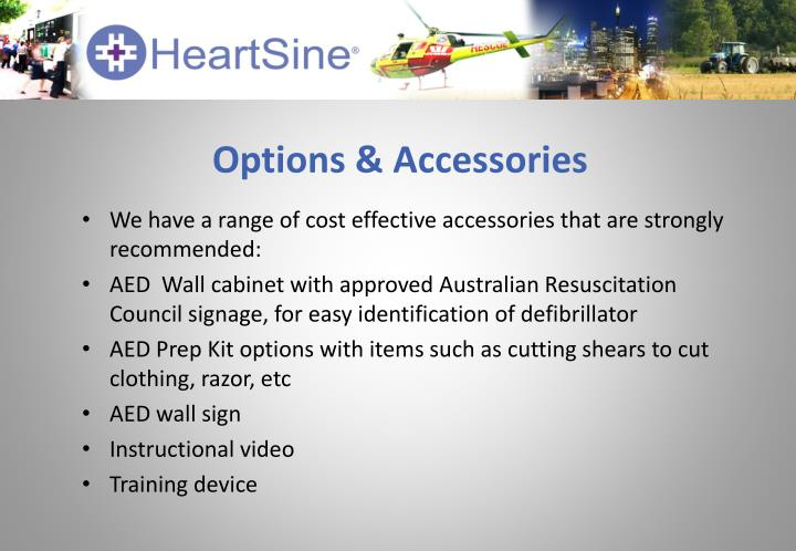 Options & Accessories