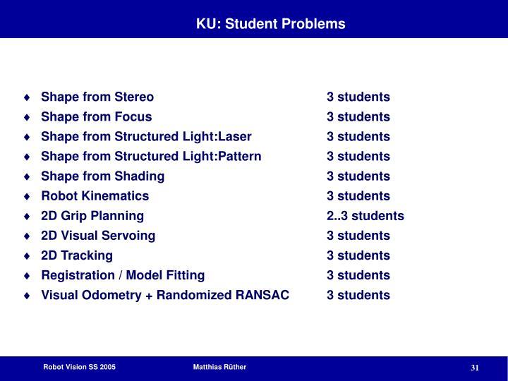 KU: Student Problems