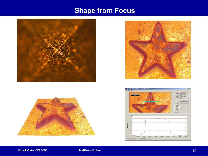 Shape from Focus