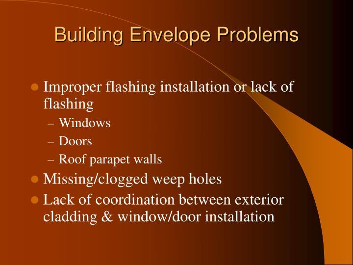 Building Envelope Problems
