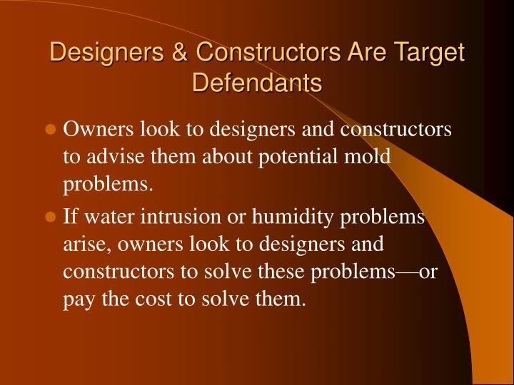 Designers & Constructors Are Target Defendants
