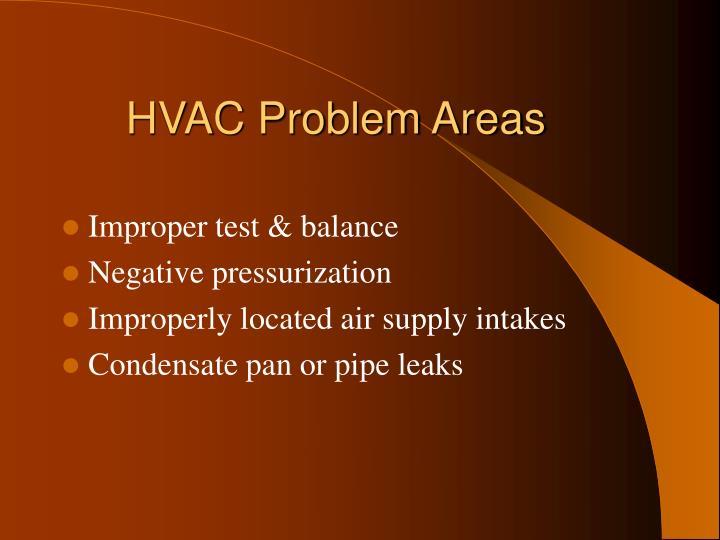 HVAC Problem Areas
