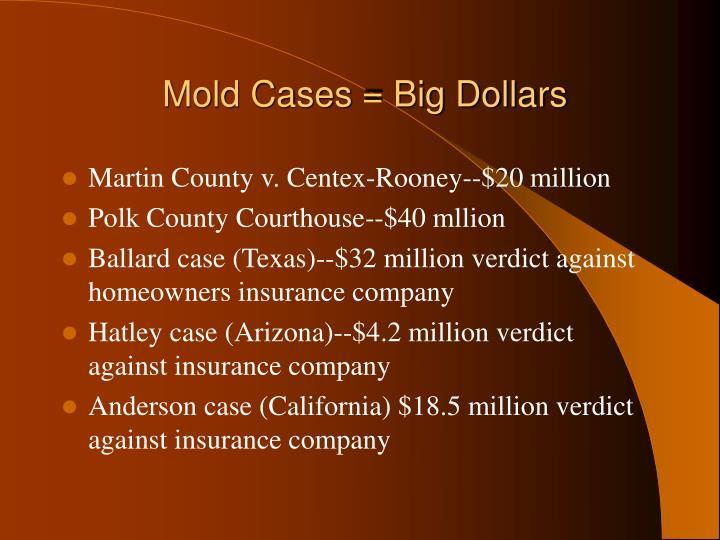 Mold Cases = Big Dollars