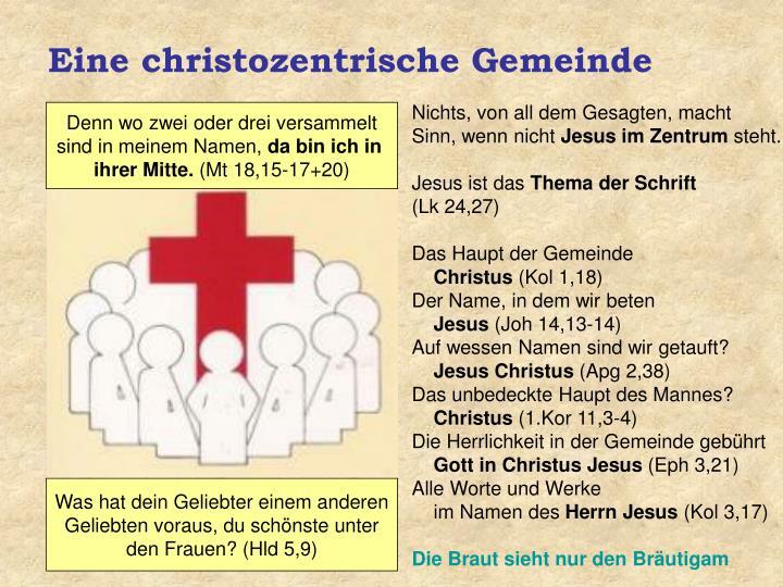 Eine christozentrische Gemeinde