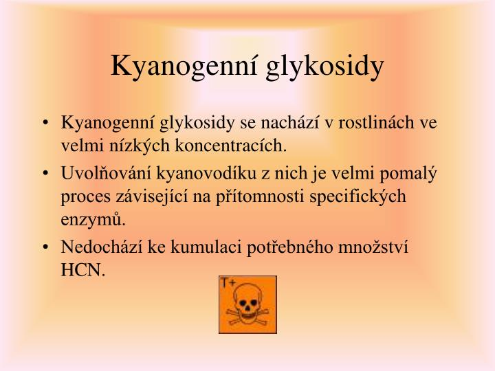 Kyanogenní glykosidy
