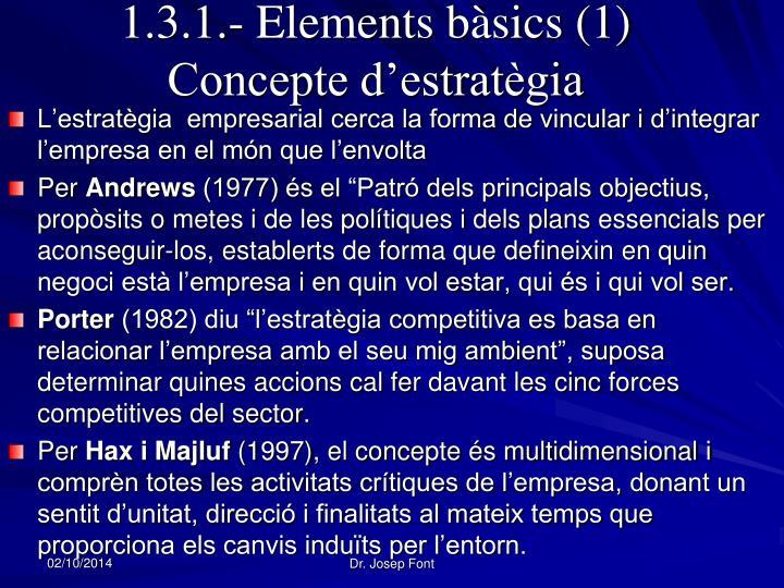 1.3.1.- Elements bàsics (1)