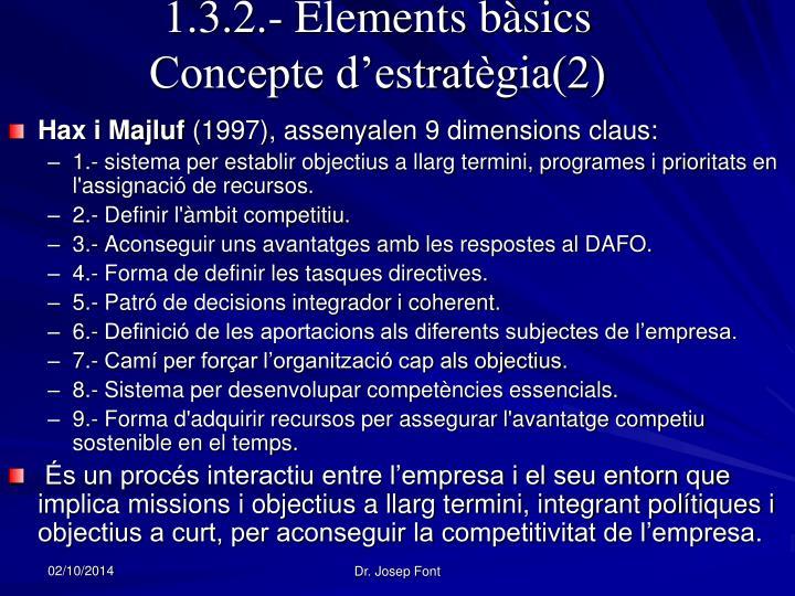1.3.2.- Elements bàsics