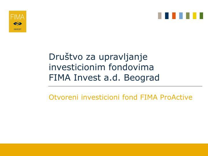 Društvo za upravljanje investicionim fondovima