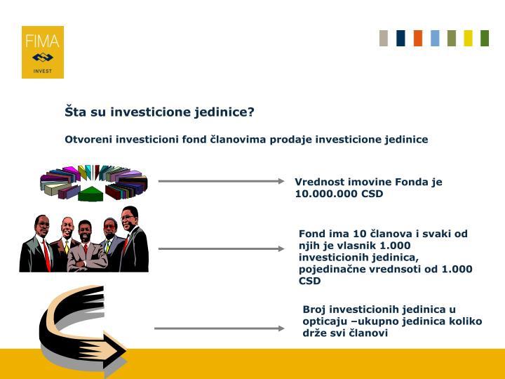 Šta su investicione jedinice?