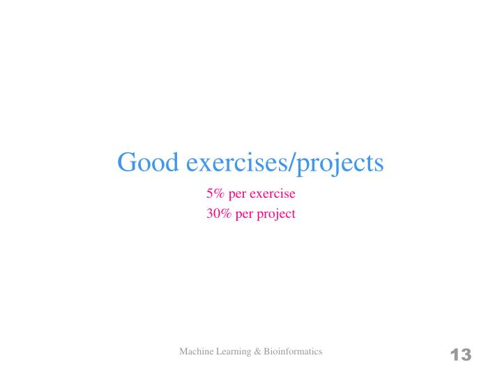 Good exercises/projects