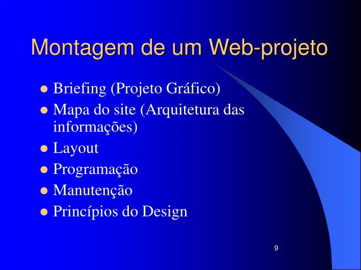 Montagem de um Web-projeto
