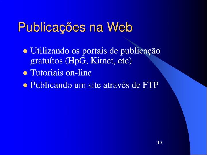 Publicações na Web