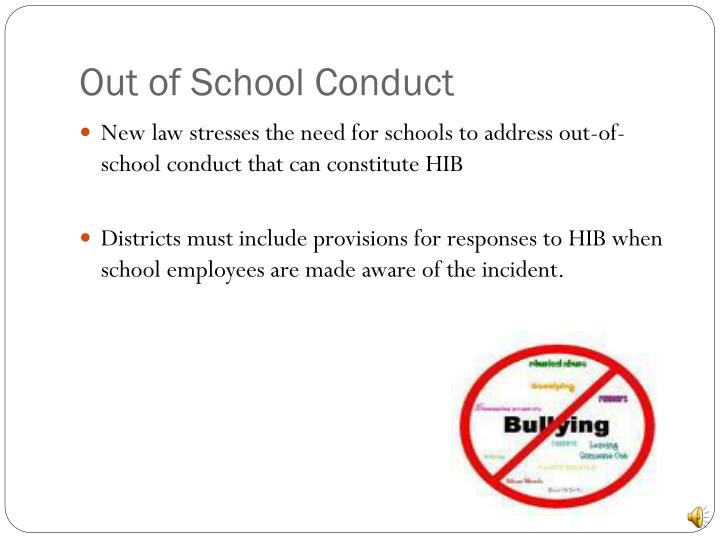 Out of School Conduct